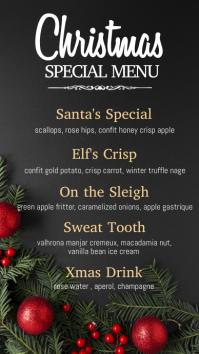 christmas menu, christmas, menu Цифровой дисплей (9 : 16) template