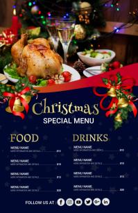 Christmas menu,christmas 小报 template