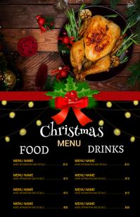 Christmas menu,christmas Tabloid template