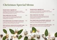 Christmas Menu 11 A5 template