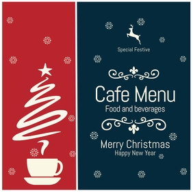 christmas menu card