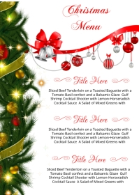 Christmas Menu Card A6 template