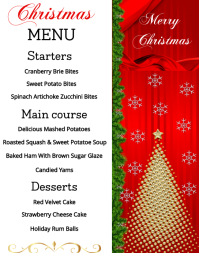 Christmas Menu Poster/Wallboard template