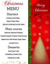 Christmas Menu Poster/Wallboard template
