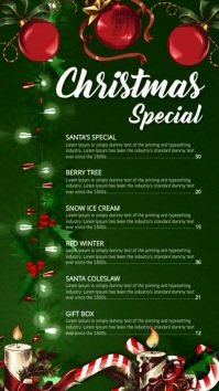 Christmas Menu Digital Display (9:16) template