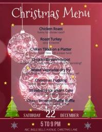 christmas menu Flyer (US Letter) template