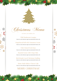 Christmas Menu A6 template