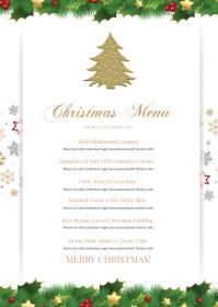 Christmas Menu A6 template