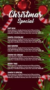 Christmas Menu Digital Display (9:16) template