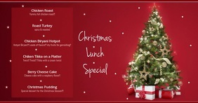christmas Menu Facebook Ad template