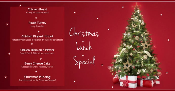 christmas Menu Facebook-annonce template