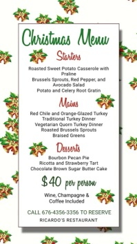 Christmas Menu Digital Template