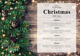 Christmas Menu Dinner Restaurant Event Flyer