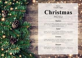 Christmas Menu Dinner Restaurant Event Flyer