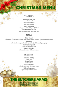 Christmas Menu · Kids Menu Template  Free Xmas Menu Templates