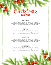 Christmas Menu Flyer Template Poster/Wallboard