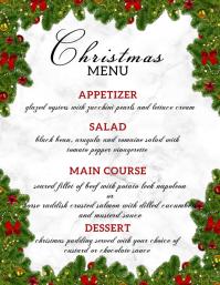 christmas menu FLYER TEMPLATE Iflaya (Incwadi ye-US)