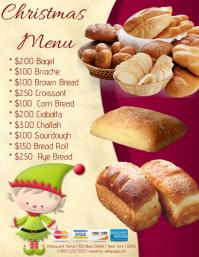 Christmas Menu Flyer (format US Letter) template