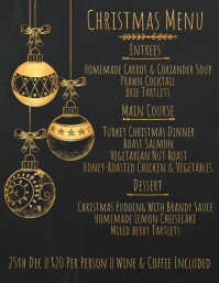 8 460 customizable design templates for christmas menu postermywall