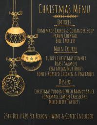Christmas Menu Poster Template