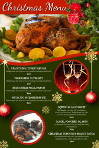 Christmas Menu Poster Template