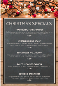 Christmas Menu Specials Poster Template