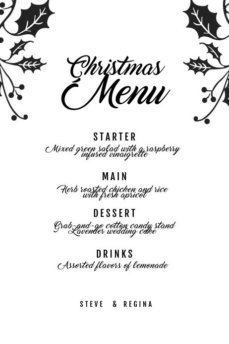 Christmas menu Template 海报