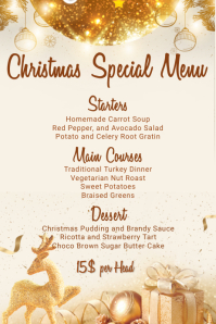 Christmas Menu Template Poster