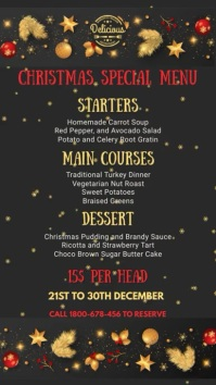 Christmas Menu Template