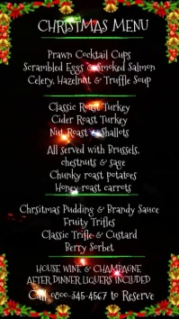 Christmas Menu Video