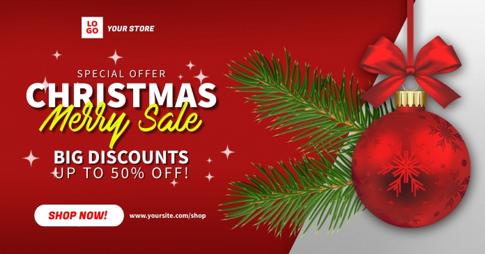 Christmas Merry Sale Ad Template