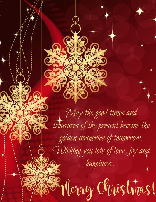 Christmas Message Løbeseddel (US Letter) template