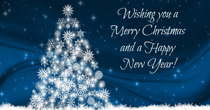 christmas message flyer Facebook Shared Image template