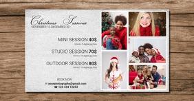 Christmas Mini Session Template for facebook delt Facebook-billede