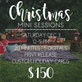 Christmas Mini Sessions Template