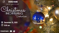 Christmas Morning Service Miniatura na YouTube template