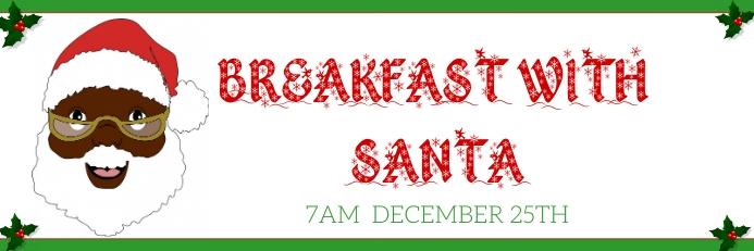 breakfast with santa event Cartel de 2 × 6 pulg. template