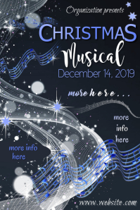 Christmas Musical Poster template