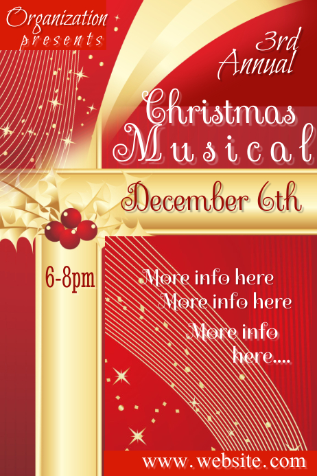 Christmas Musical Poster