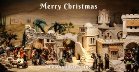 Christmas Nativity Facebook Cover