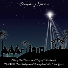 Christmas Nativity Instagram Template