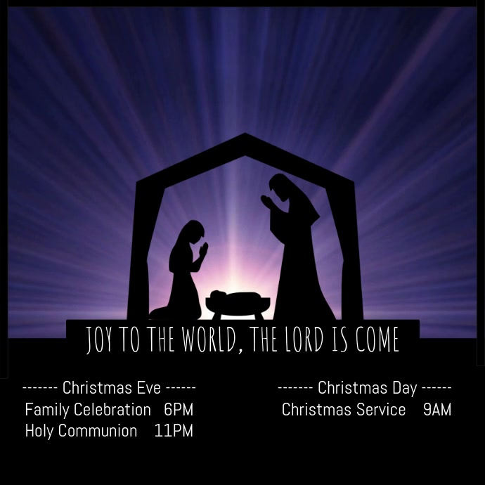 Christmas Nativity Service Video Quadrado (1:1) template