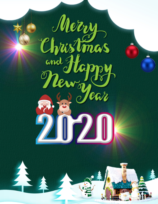 Us Christmas Days 2020 Christmas New Year 2020 Template | PosterMyWall