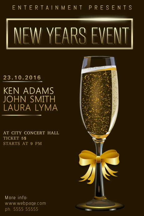 Christmas New Year Event festival Concert Poster Template