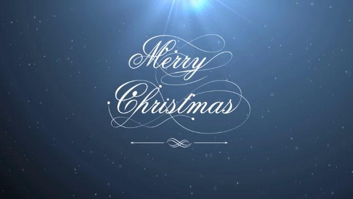 Christmas night Vídeo de portada de Facebook (16:9) template