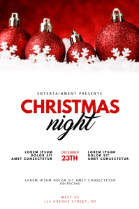 Christmas Night Event Flyer Design Template