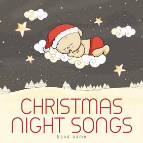 Christmas Night Songs kids Album Cover Template