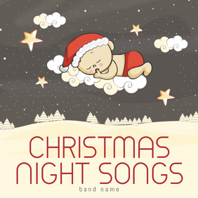 Christmas Night Songs kids Album Cover Template