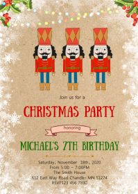 Christmas nutcracker party invitation