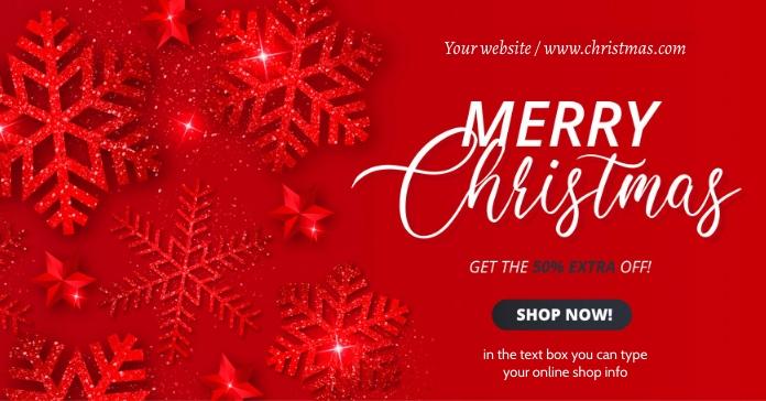 christmas off Iklan Facebook template